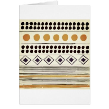 Aztec Themed Vintage paper greeting with Aztec folk pattern Card