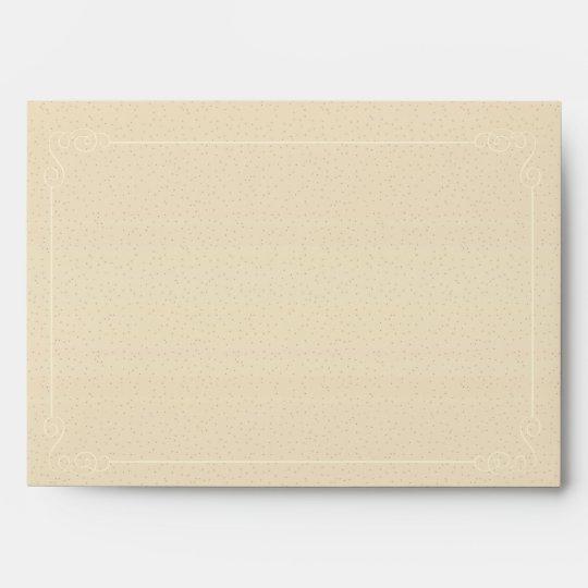 vintage paper look 5x7 invitation size envelope zazzle com