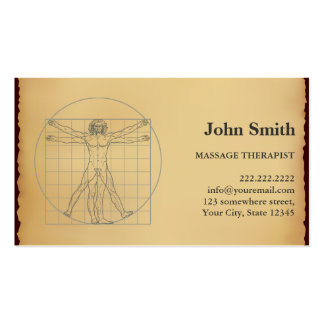 Vintage Paper Massage Therapist Appointment Card Double-Sided Standard Business Cards (Pack Of 100)