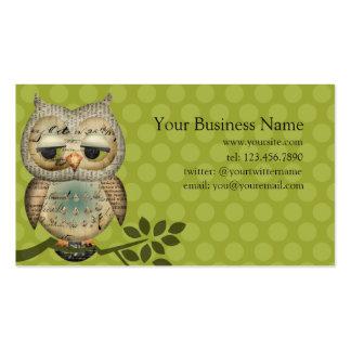 Vintage Paper Owl Business Cards