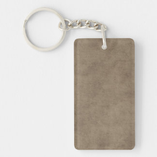 Vintage Paper Parchment Paper Template Blank Keychain