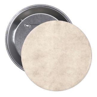 Vintage Paper Parchment Paper Template Blank Pinback Button