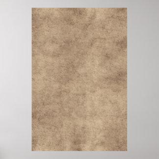 Vintage Paper Parchment Paper Template Blank Poster