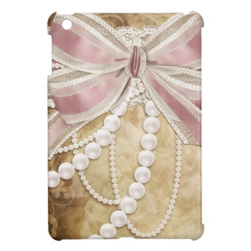 Vintage Paper, Ribbons and Pearls Case For The iPad Mini