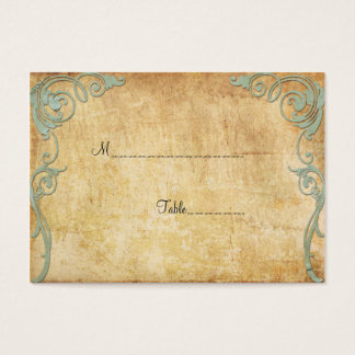 Vintage Paper Swirls Table Place Card