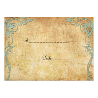 Vintage Paper Swirls Table Place Card Business Card Templates