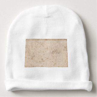 Vintage paper texture bugged baby beanie