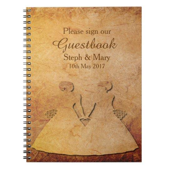 Vintage Paper Texture Lesbian Guestbook Notebookcom