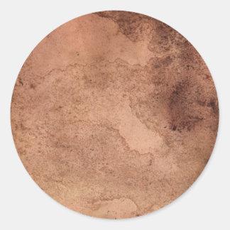 Vintage Paper Texture Round Sticker