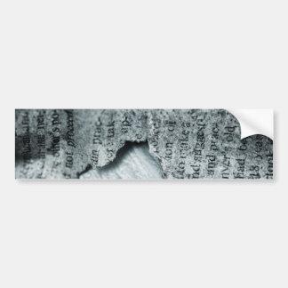 Vintage paper Torn Bumper Sticker