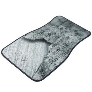 Vintage paper Torn Floor Mat