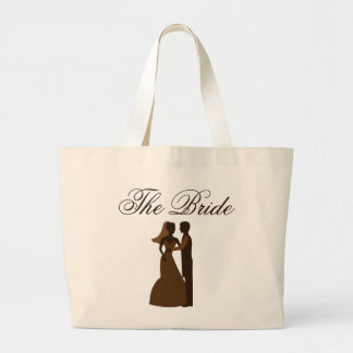 Vintage paper Wedding The Bride Once upon a time Large Tote Bag
