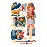 Vintage Paperdoll Little Bo Peep Postcard
