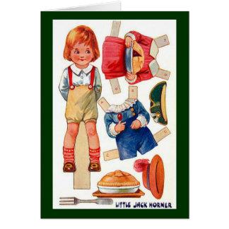 Vintage Paperdoll Little Jack Horner postcard