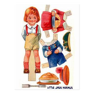 Vintage Paperdoll poca postal de Jack Horner
