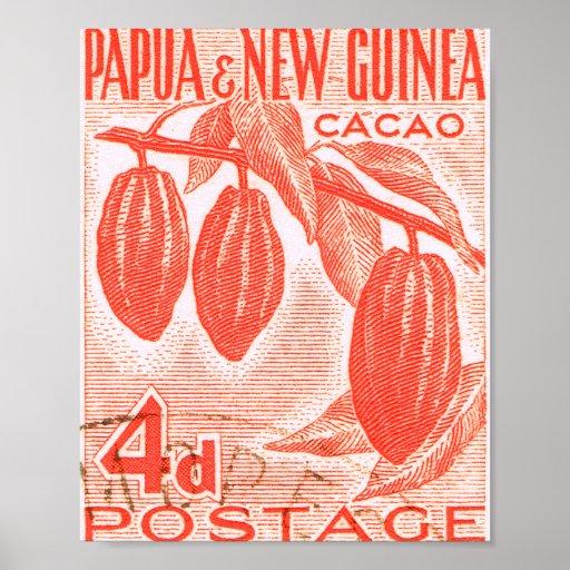 Vintage Papúa Nueva Guinea Poster