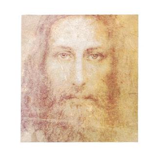 vintage papyrus portrait of Jesus Christ healing Memo Pads