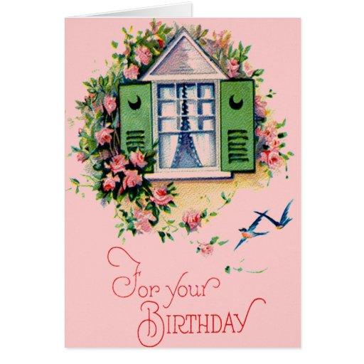 Vintage para su tarjeta de cumpleaños