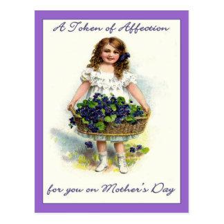 Vintage para usted el el día de madre, símbolo del tarjetas postales