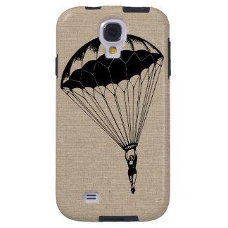 Vintage parachute linen burlap steampunk circus galaxy s4 case