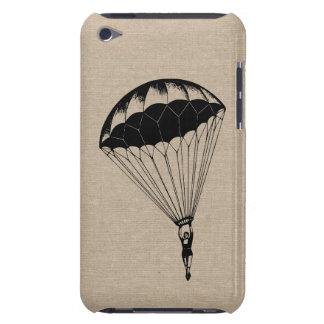 Vintage parachute linen burlap steampunk circus iPod touch Case-Mate case
