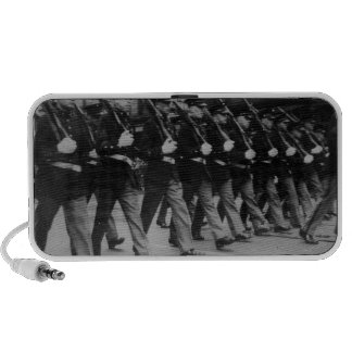 Vintage Parade Soldiers with Rifles Speaker