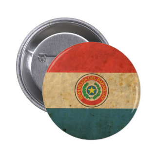 Vintage Paraguay Flag 2 Inch Round Button