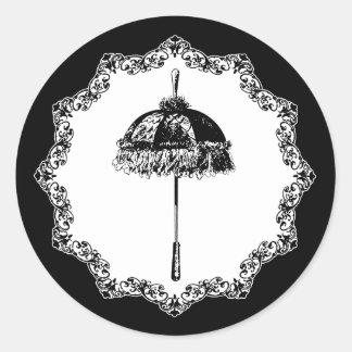 Vintage Parasol Classic Round Sticker