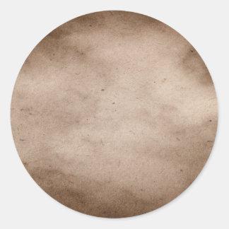 Vintage Parchment Antique Paper Background Blank Round Sticker