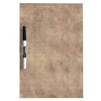 Vintage Parchment Antique Paper Background Custom Dry Erase Board