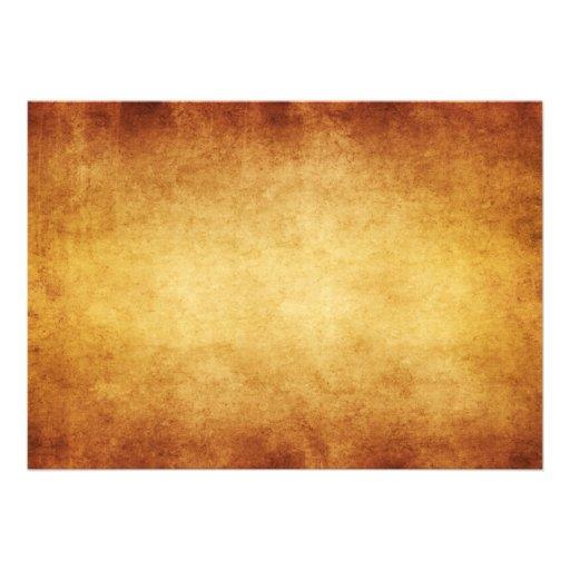 Vintage Parchment Antique Paper Background Custom Announcements