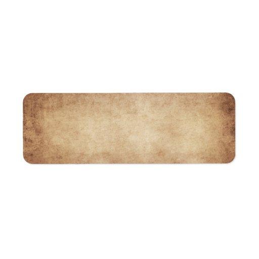 Vintage Parchment Antique Paper Background Custom Labels