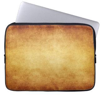 Vintage Parchment Antique Paper Background Custom Laptop Sleeve