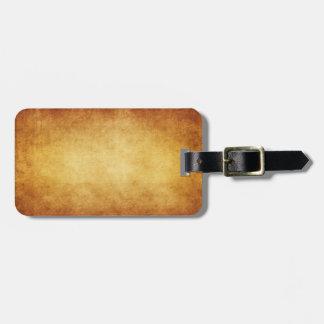Vintage Parchment Antique Paper Background Custom Tag For Bags