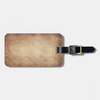 Vintage Parchment Antique Paper Background Custom Luggage Tag