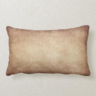 Vintage Parchment Antique Paper Background Custom Lumbar Pillow