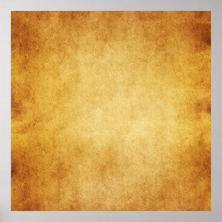 Vintage Parchment Antique Paper Background Custom Poster