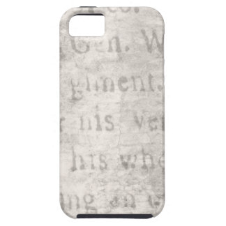 Vintage Parchment Antique Text Template Blank iPhone 5 Covers