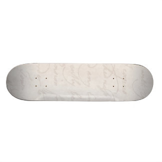 Vintage Parchment Antique Text Template Blank Skateboard