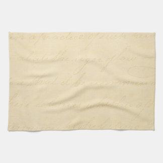Vintage Parchment Antique Text Template Blank Towel