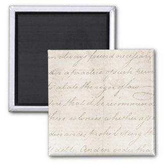 Vintage Parchment Antique TextTemplate Fridge Magnets