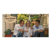 Vintage Parchment Country Photo Christmas Card