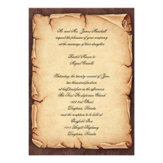 Vintage Parchment Invitation