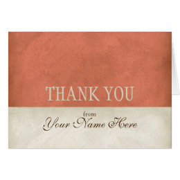 Vintage Parchment Look Business Thank You Notes