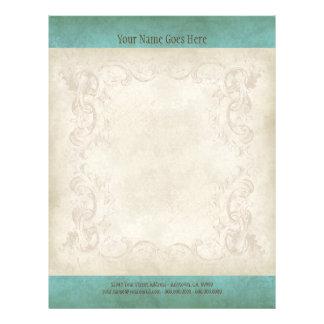 """Vintage Parchment Look Letterhead Resume Paper 8.5"""" X 11"""" Flyer"""