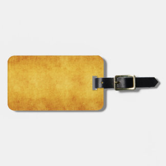 Vintage Parchment Orange Yellow Template Blank Travel Bag Tags