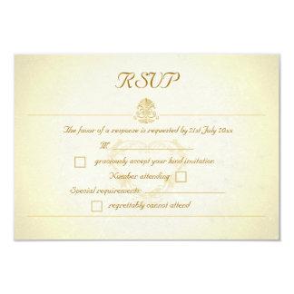 Vintage Parchment Paper Style RSVP Response Cards