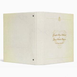 Vintage Parchment Paper Style Wedding Album 3 Ring Binder