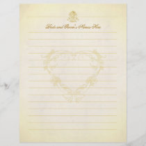 Vintage Parchment Paper Wedding Guest Book Pages