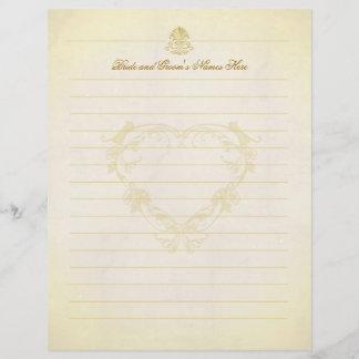 Vintage Parchment Paper Wedding Guest Book Pages